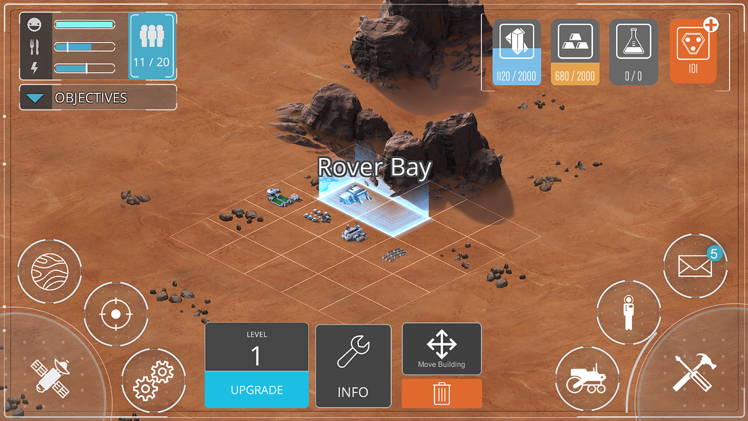 Screenshot of in-game establishment of a Rover Bay.