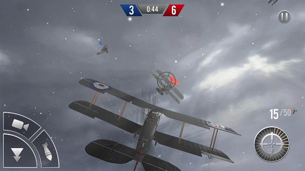 Screenshot from mobile version of Ace Academy: Black Flight